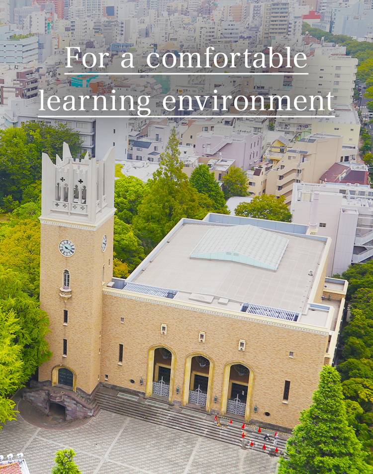 For a comfortable learning environment